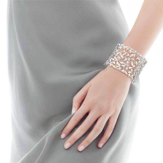 Bracelete em prata Tiffany & Co, coleção Paloma Picasso.
