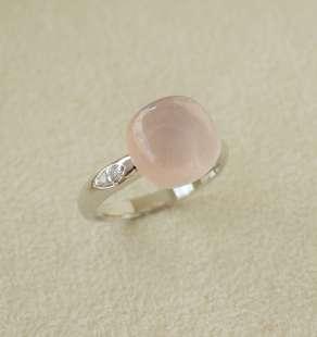 Anel em Prata 925 com Quartzo Rosa