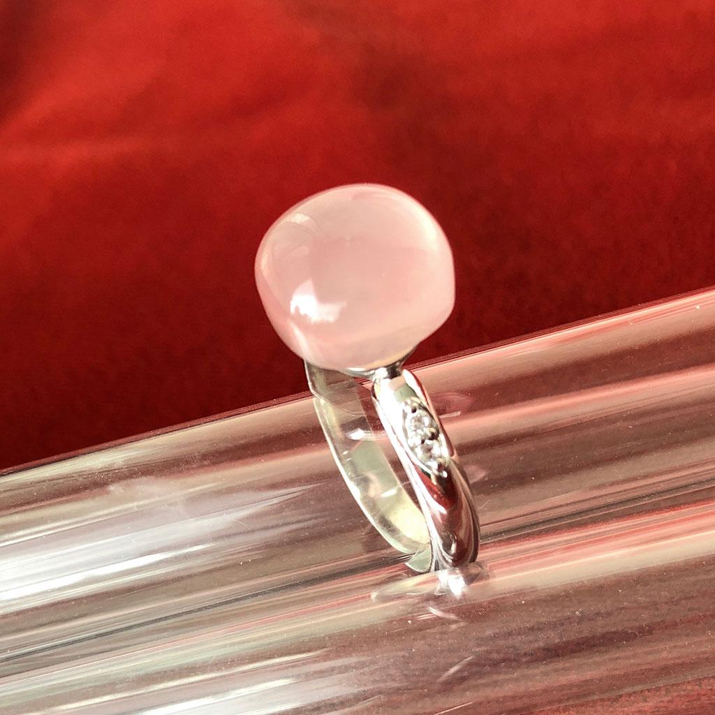 MOODS COLLECTION - anel em Prata 925 com Quartzo Rosa